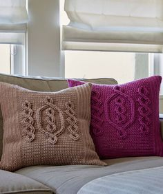 Free Crochet Pattern for a Chic Cable Pillow. Skill Level: Experienced Try the Infinity Crochet technique as you crochet a pillow for any spot that needs a bit of hygge style and coziness Free Pattern More Patterns Like This! Crochet Pillow Patterns Free, Granny Square Crochet Pattern, Knitting Patterns Free, Free Crochet, Free Pattern, Irish Crochet, Crochet Cable, Cable Knit, Crochet Cushions