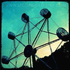 Spider Wheel  Ferris Wheel Fine-Art Print  8x8 by stoopidgerl, $25.00