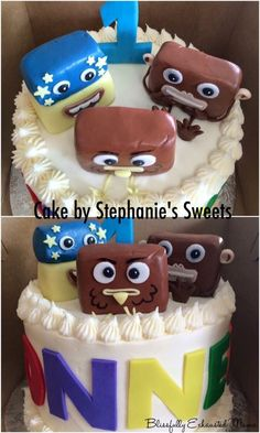 1st Birthday: Big Block SingSong Theme  – The Blissfully Exhausted Mama cake
