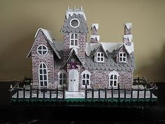 Tim holtz sizzix village Manor dwelling die cut kit house building precut 290g