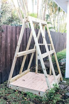 DIY A Frame Play House. This outdoor playhouse is easy and cheap to make and is . DIY A Frame Play Simple Playhouse, Backyard Playhouse, Build A Playhouse, Wooden Playhouse, Playhouse Kits, Playhouse For Kids, Backyard For Kids, Backyard Projects, Outdoor Projects