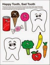 Happy tooth sad tooth story Place Happy Tooth and Sad Tooth onto a flannel board Discuss each food and have the children decide if its healthy or unhealthy for teeth and. Preschool Themes, Preschool Science, Preschool Activities, Body Preschool, Preschool Learning, Teaching Kids, Dental Health Month, Oral Health, Community Helpers Preschool