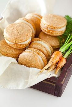 Frivolous Fabulous - Carrot Cake Macarons with Maple Cream Frosting