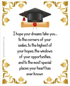 Graduation Wishes Quotes, Graduation Card Messages, Graduation Message, Graduation Images, High School Graduation Quotes, Happy Birthday Quotes For Friends, Birthday Wishes Quotes, Graduation Party Planning, Graduation Invitations