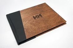 Helly Hansen annual report, wood cover with bound spine
