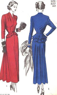 Vintage Sewing Pattern 1940er Jahre voraus von NeenerbeenerKnits