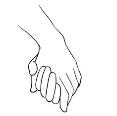 How to Draw Holding Hands, Step by Step, Hands, People