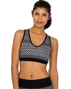 304df167c0bd4 Sports Bras RBX Active Medium Impact Aztec Print with Contrast Band Racerback  Bra -- Find out more by clicking the VISIT button