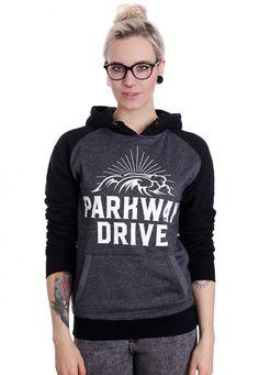 Parkway Drive - Surf Badge Charcoal/Black - Hoodie im Impericon Shop - Innerhalb…