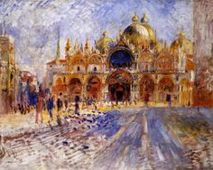 Pierre-Auguste Renoir (French 1841–1919) [Impressionism] The Piazza San Marco, 1881.