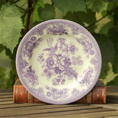 30 Best Purple Transferware Images Platter Dinner Plates Dishes