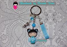 Kokeshi keychain inspired