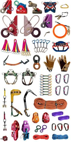 Why does this look so yummy to me! It's like a candy buffet! LOL #Climbing Gear!