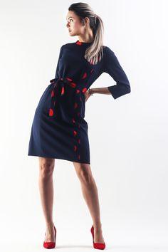 Elegant Dresses, Streetwear Fashion, Street Wear, Polka Dots, Dresses For Work, Spandex, City, Products, Stylish Dresses