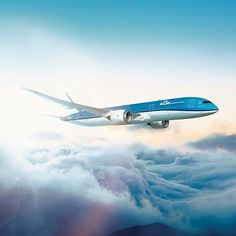 Arriving soon in Amsterdam... #KLM #Boeing #787 #Dreamliner
