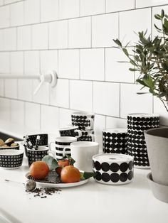 Lotta Agaton for Marimekko - Nordic Design Marimekko, Scandinavian Interior Design, Nordic Design, Jar Storage, Interior Design Inspiration, Kitchenware, Tableware, Decoration, A Table