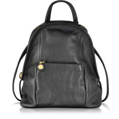 See by Chloé Bluebell Black Leather Backpack ($638) ❤ liked on Polyvore featuring bags, backpacks, real leather backpack, day pack backpack, see by chloe bags, pocket backpack and leather knapsack