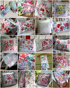 Vintage tablecloth fabric project inspiration.