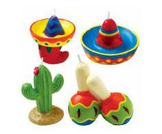 Fiesta 4-Piece Candle Set (Cactus, Sombrero & Maracas) Birthday Party • Cake Decor • Party Decor • Cute Candles • Party Supplies (2811-9345) on Etsy, $4.35