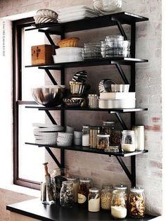 open shelves, like the black.