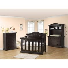 Sorelle Providence 3 Piece Nursery Set In Dark Espresso   Crib, Double  Dresser, 5