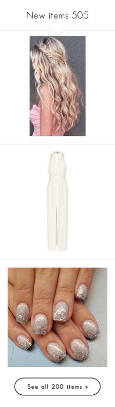"""New items 505"" by cavallaro ❤ liked on Polyvore featuring dresses, gowns, white, open back evening gowns, couture evening dresses, white dress, embellished gown, white drape dress, beauty products and makeup"