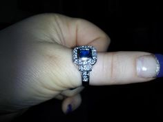 DC Fan Sarah Mildred Landgraff's ring from her diamond candle.