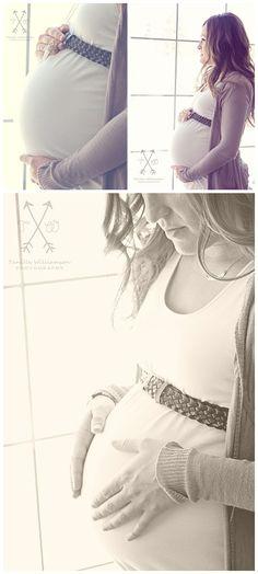 Maternity session Indoor window light.