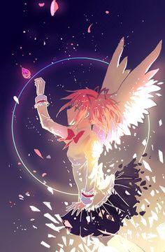 Madoka's Wish / Puella Magi Madoka Magica (Day Saddest Anime Scene) Manga Anime, Art Manga, Fanarts Anime, Anime Characters, Anime Art, Madoka Magica, Vocaloid, Anime Girls, Otaku