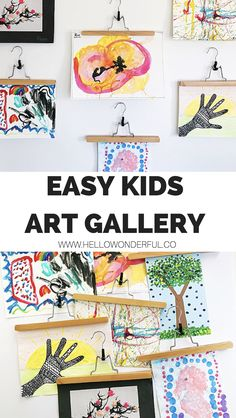 How to Set Up a Kids' Art Gallery in 10 Minutes #kidsart #kidscrafts #kidshome #artgallery #kidsartwork