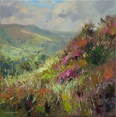 'Moorland View, Hathersage' by Rex Preston. by Rex Preston. Part of his two man exhibition with Mark Preston, opening at gallerytop on 3 October 2015