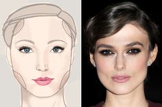 How to apply makeup on a square face shape!