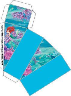 Ideas y material gratis para fiestas y celebraciones Oh My Fiesta!: Cajitas imprimibles de la Sirenita.