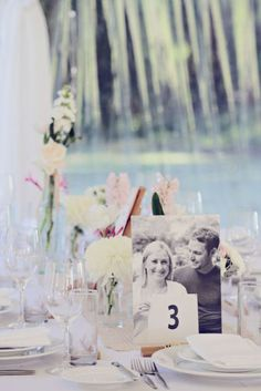 Love this idea for a table number