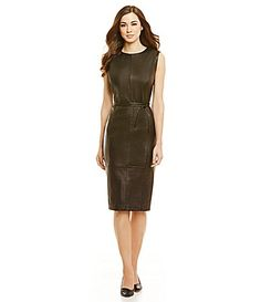 6c4c51d1a9 Antonio Melani Fine Leather Natasha Tie-Waist Dress