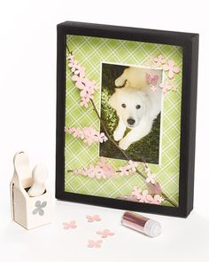 <16 of 47 >  Blossoming Branch Shadow Box  Use a mix of natural materials and flower-and butterfly-shaped craft punches to create this charming three-dimensional shadow box.  How to Make the Shadow Box