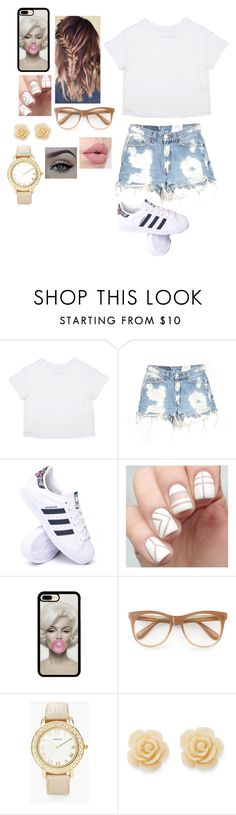 """""""Untitled #660"""" by javonnah ❤ liked on Polyvore featuring Furst of a Kind, adidas, Wildfox, Chico's and Draper James"""