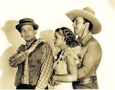 George O'Brien, Claire Trevor and El Brendell in 'The Last Trail' (1933) ...