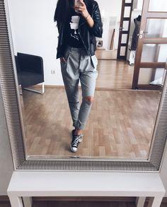 KARL x TRAS  Grey trousers by TRAS www.tras.hu #trasdesign