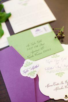 Purple and Chic Nature Inspired Wedding