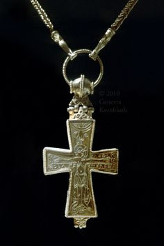 Orø Cross (early 12th century CE), gold, found on the island of Orø in the Isefjord. National Museum Copenhagen