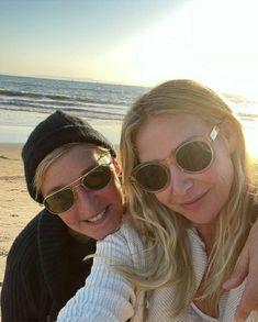 Ellen Degeneres And Portia, Ellen And Portia, Portia De Rossi, Happy Thanksgiving, How Beautiful, Pilot, Videos, Sunglasses Women, Instagram
