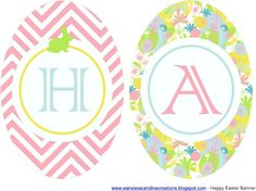 FREE printable EASTER COLLECTION - includes banner, cupcake wrappers, favour tags, drink labels & more.