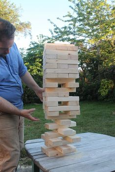 DIY Giant Jenga game from Squirrelly Minds on Used Everywhere
