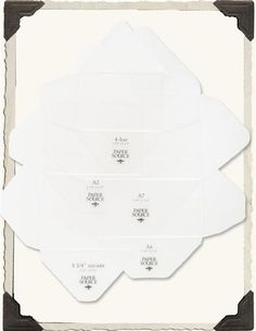 Envelope Liner Template Kit  Hobbies Papercrafting