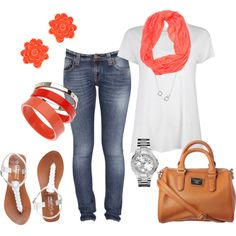 """""""Coral Comfortable"""" by ronda-mathews-andrews-linhardt on Polyvore"""
