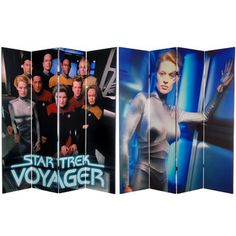 """Found it at Wayfair - Oriental Furniture 71"""" x 63"""" Star Trek Tall Double Sided Voyager 4 Panel Room Dividerhttp://www.wayfair.com/Oriental-Furniture-71-x-63-Star-Trek-Tall-Double-Sided-Voyager-4-Panel-Room-Divider-CAN-CST-644-OFN4039.html?refid=SBP.rBAjD1Q0sV0f2yjl4hhpAowCpKNK20A0mTATIKIpwXE"""