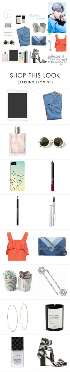 """JiMin ❤"" by soojinchoi ❤ liked on Polyvore featuring Levi's, Burberry, The Row, NARS Cosmetics, Estée Lauder, Marc Jacobs, MAC Cosmetics, ace & jig, STELLA McCARTNEY and 1928"
