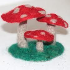 needle felted mushrooms - Google Search