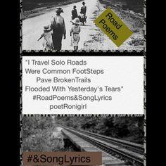 #RoadPoems&SongLyrics #PlainSpoken #poetronigirl #highWayPoet #poetri #wordWeaver #poet #roadmusic #lyrics #rootsMusic #hipHopFlow #mountainMusiic #hillSongs #onTheRoad #poetry #gypsy #author #theBalladOfPoetRonigirl #God1st #theMagicOfOrdinaryDays